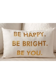 Giftcraft Inc.  Be Happy Pillow - Front cropped