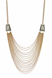 Giftcraft Inc.  Bib Necklace Khaki - Front cropped