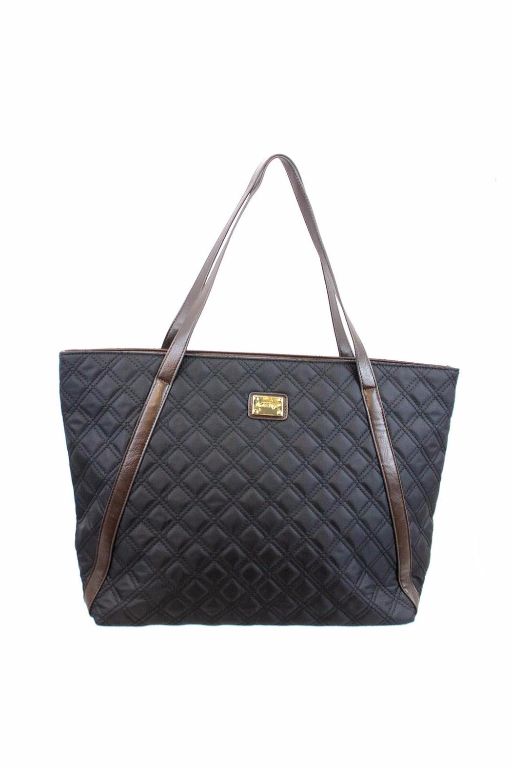 Giftcraft Inc.  Black Quilted Tote - Main Image