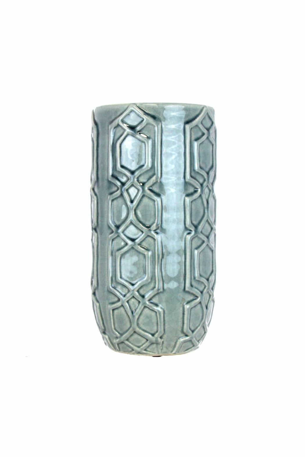 Giftcraft Inc.  Blue Hurricane Vase - Main Image