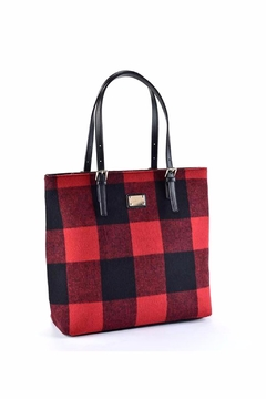 Giftcraft Inc.  Buffalo Plaid Tote Bag - Product List Image