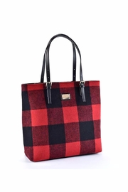 Giftcraft Inc.  Buffalo Plaid Tote Bag - Front cropped