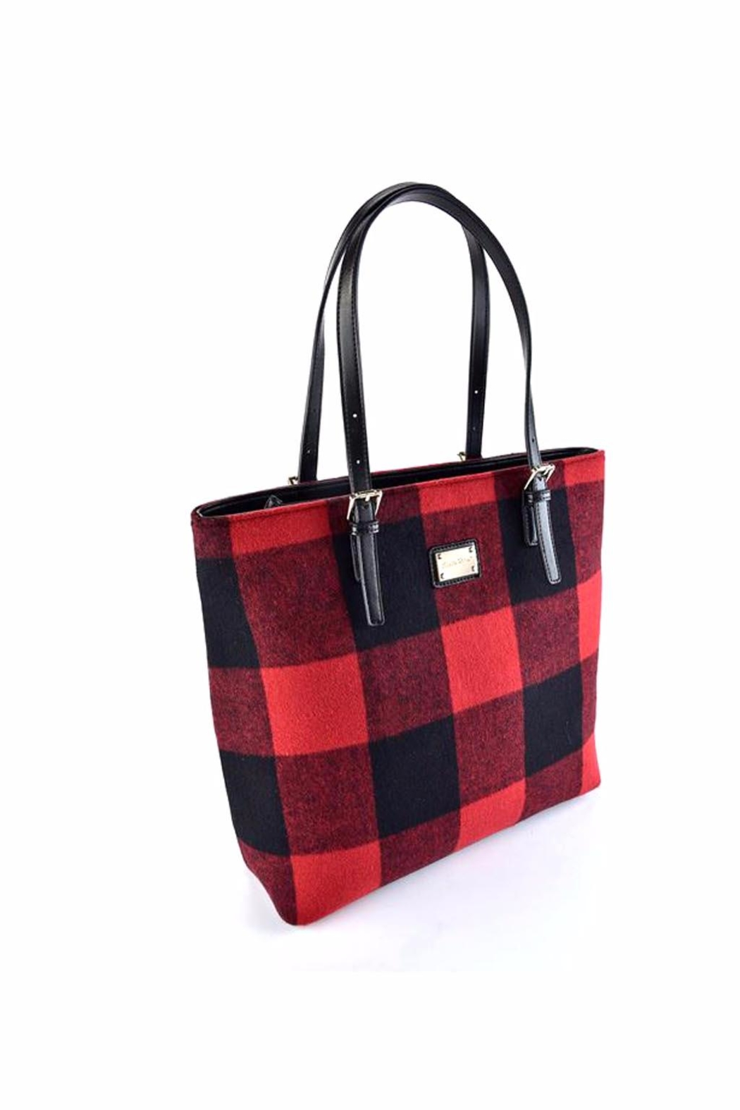 Giftcraft Inc.  Buffalo Plaid Tote Bag - Front Full Image