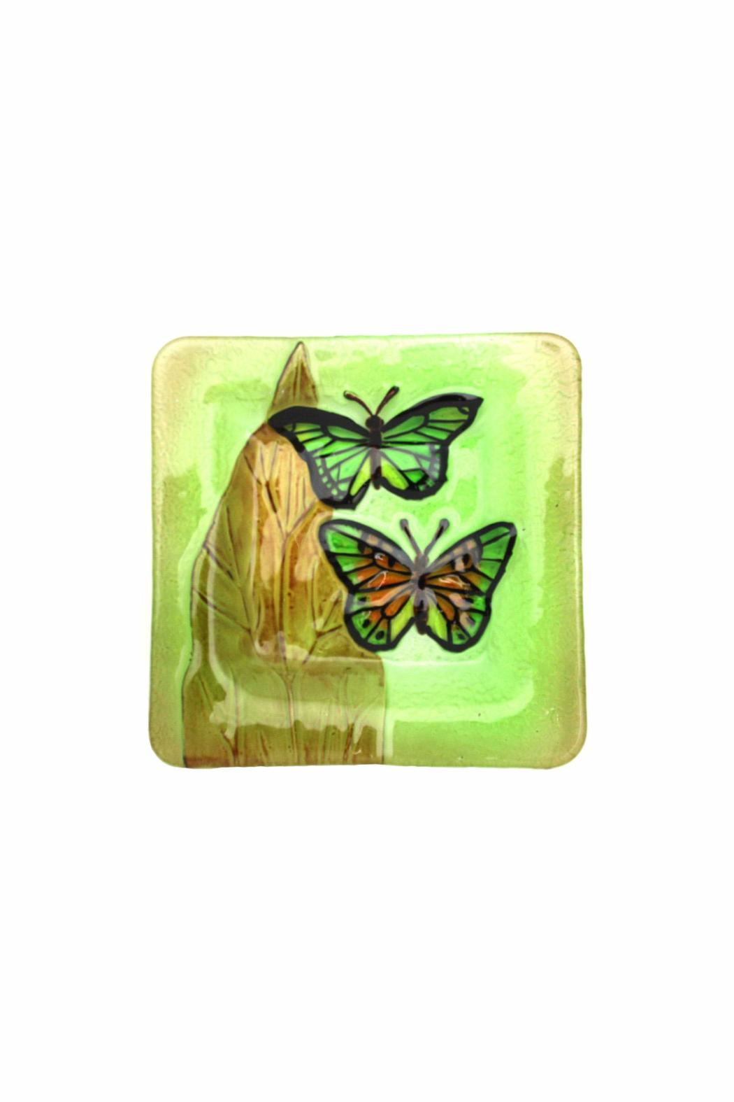 Giftcraft Inc.  Butterfly Glass Plate - Main Image