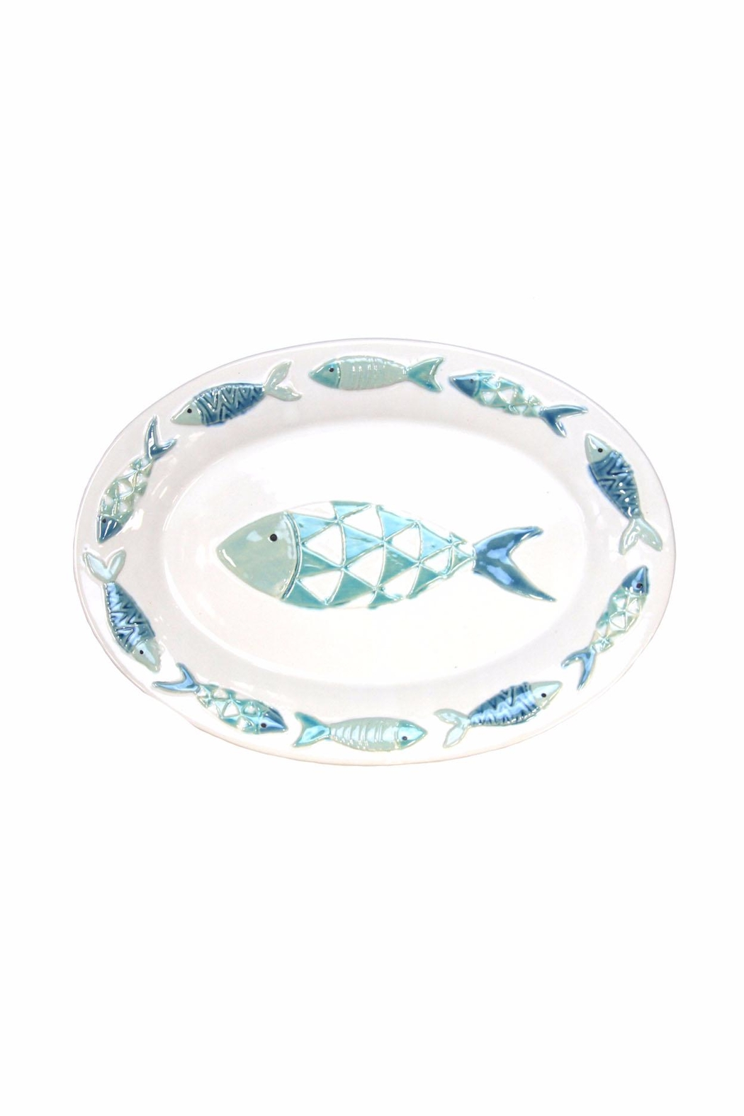 Giftcraft Inc.  Ceramic Fish Platter - Front Cropped Image