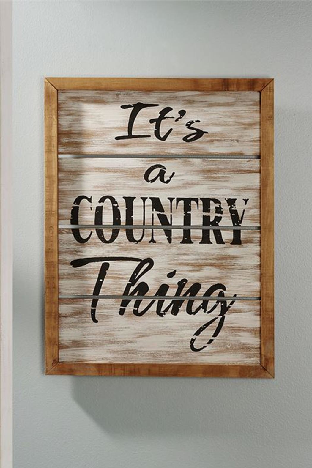 Giftcraft Inc.  Country Thing Plaque - Main Image