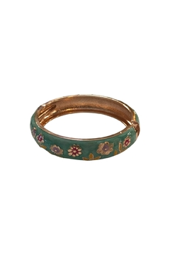 Giftcraft Inc.  Floral Bangle Bracelet - Alternate List Image