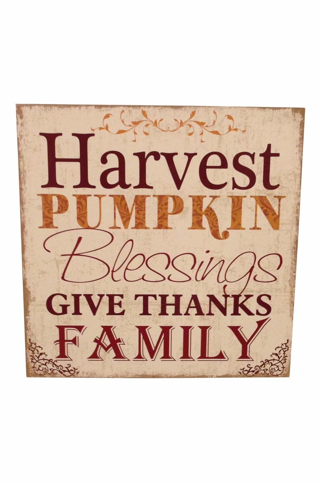 Giftcraft Inc.  Harvest Pumpkin Sign - Main Image