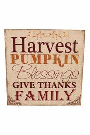 Giftcraft Inc.  Harvest Pumpkin Sign - Front cropped