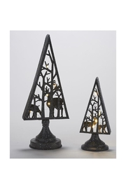 Giftcraft Inc.  Led Trees W/reindeer - Front full body