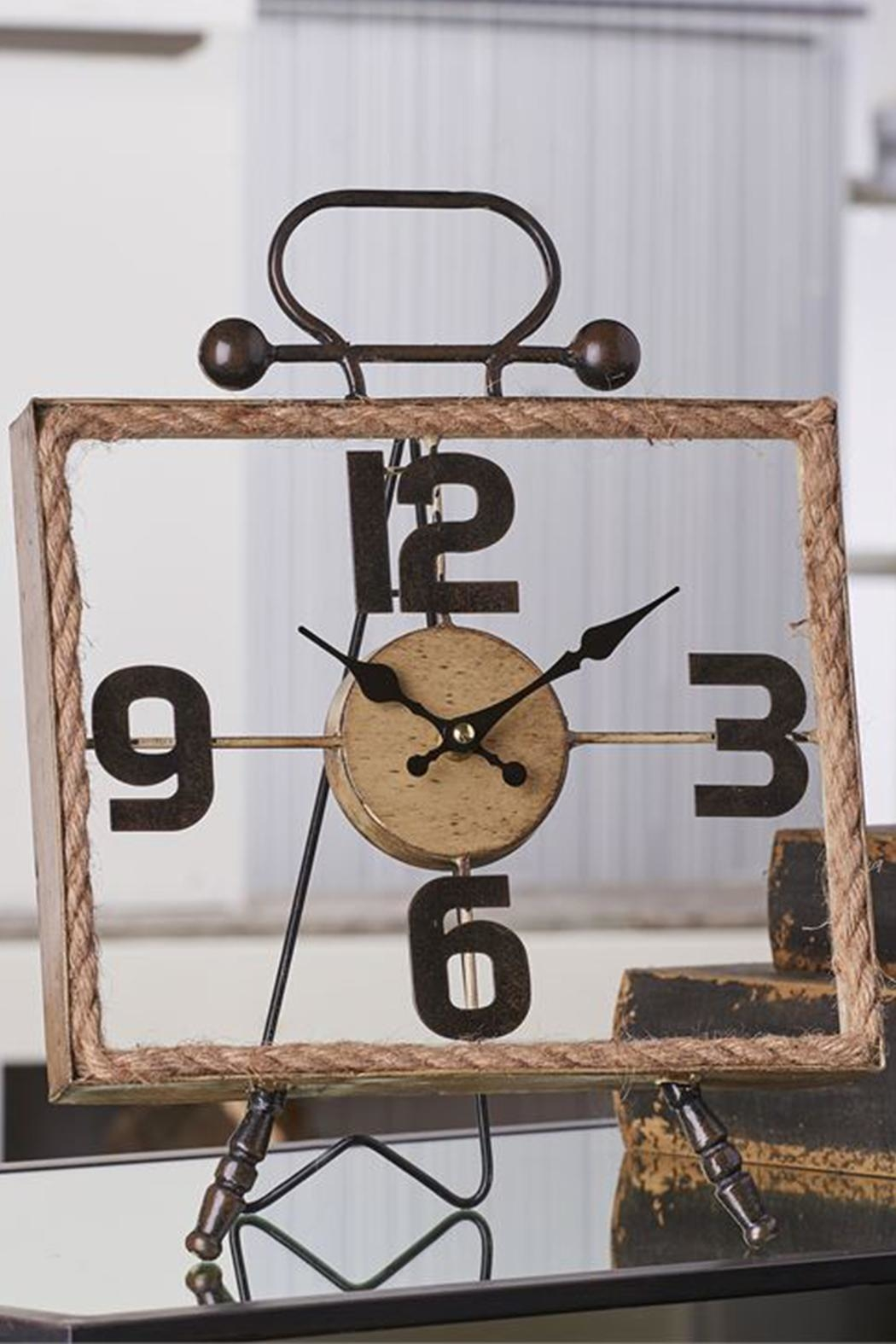 Giftcraft Inc.  Metal/rope Table Clock - Main Image