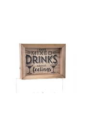 Giftcraft Inc.  Mixed Drinks Plaque - Product Mini Image