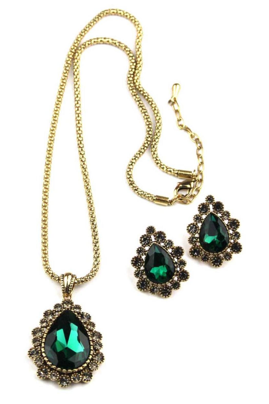 Giftcraft Inc.  Green Necklace & Earring Set - Main Image