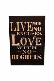 Giftcraft Inc.  No Regrets Sign - Product Mini Image