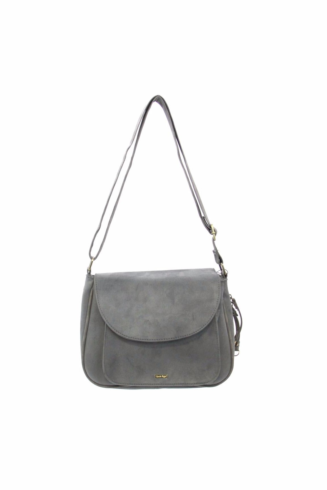 Giftcraft Inc.  Saddle Purse Gray - Front Cropped Image