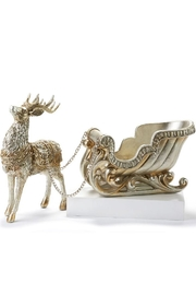 Giftcraft Inc.  Santa Sleigh W/reindeer - Front cropped