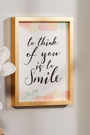 Giftcraft Inc.  To Smile Sign - Product Mini Image