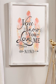 Giftcraft Inc.  Xoxo Wall Art - Product Mini Image