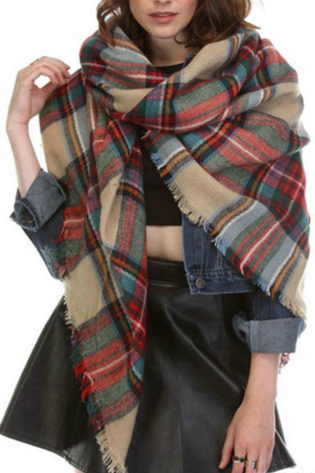 Gifted Plaid Blanket Scarf - Main Image