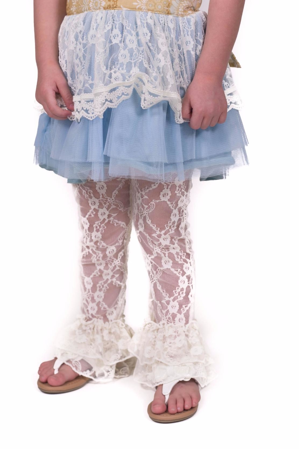 Giggle Moon Lace Dress Set - Back Cropped Image