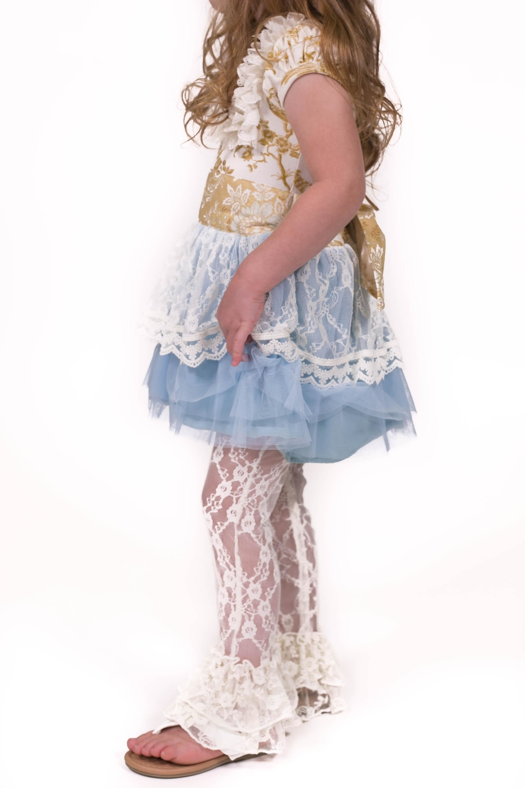 Giggle Moon Lace Dress Set - Front Full Image