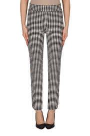 Joseph Ribkoff Gigham Fitted Pants - Product Mini Image