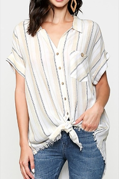 Shoptiques Product: Western Striped Button