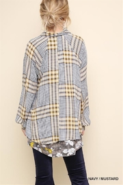 Gigio/BluHeaven Floral Print Plaid Long Sleeve Button Up - Front full body
