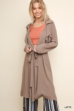 Gigio/BluHeaven Long Sleeve Long Collared Jacket - Product List Image
