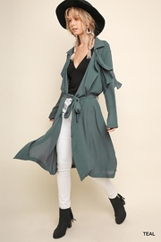 Gigio/BluHeaven Long Sleeve Long Collared Jacket - Front cropped