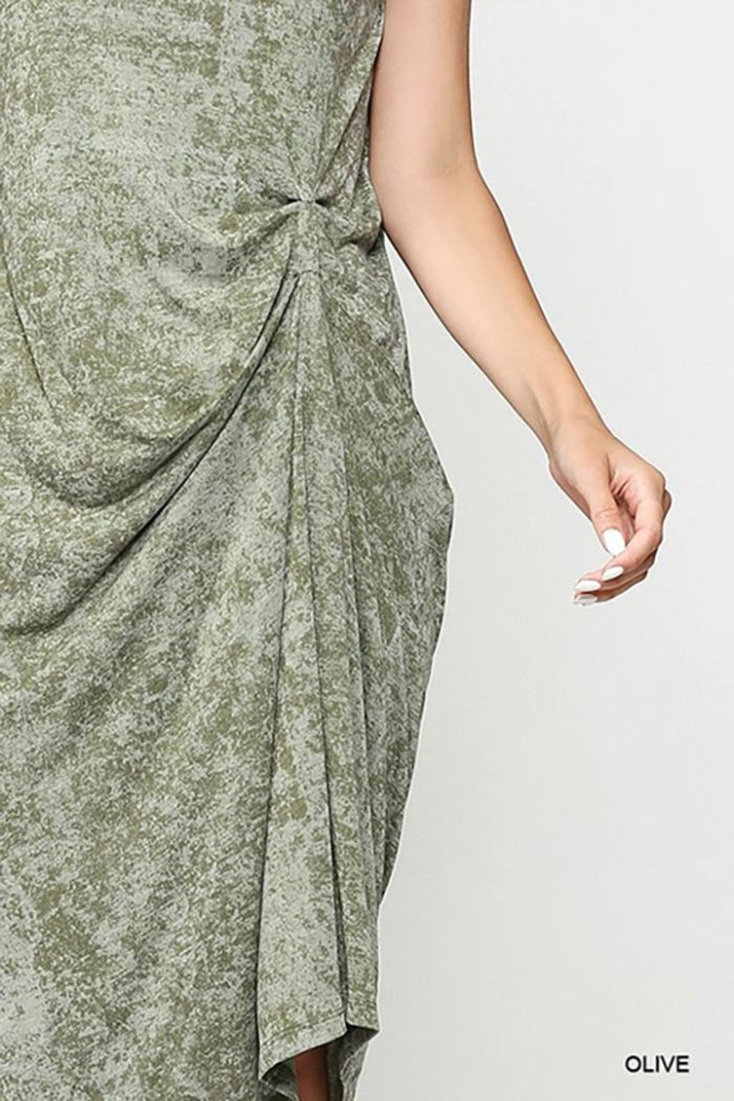 Gigio/BluHeaven Sleeveless Draped Detail Midi Dress - Side Cropped Image
