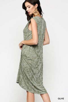 Gigio/BluHeaven Sleeveless Draped Detail Midi Dress - Alternate List Image