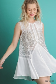 Gigio/BluHeaven Sleeveless Sheer Lace Tunic Top - Back cropped