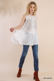 Gigio/BluHeaven Sleeveless Sheer Lace Tunic Top - Other