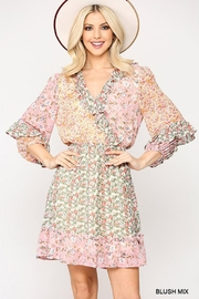 GiGiO Ditsy Floral Aesthetic Cottagecore Frilled Dress - Front cropped