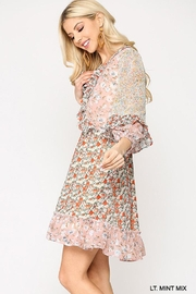 GiGiO Ditsy Floral Aesthetic Cottagecore Frilled Dress - Back cropped