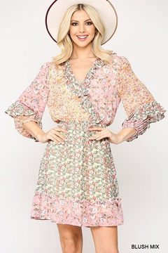 GiGiO Ditsy Floral Aesthetic Cottagecore Frilled Dress - Product List Image