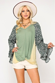 GiGiO Ditsy-Floral Color-Block Top - Product Mini Image