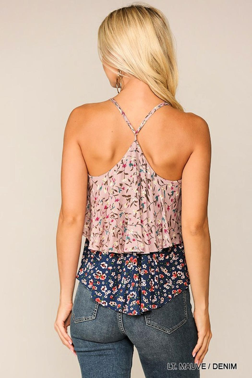 GiGiO Double-Layer Floral Cami - Front Full Image