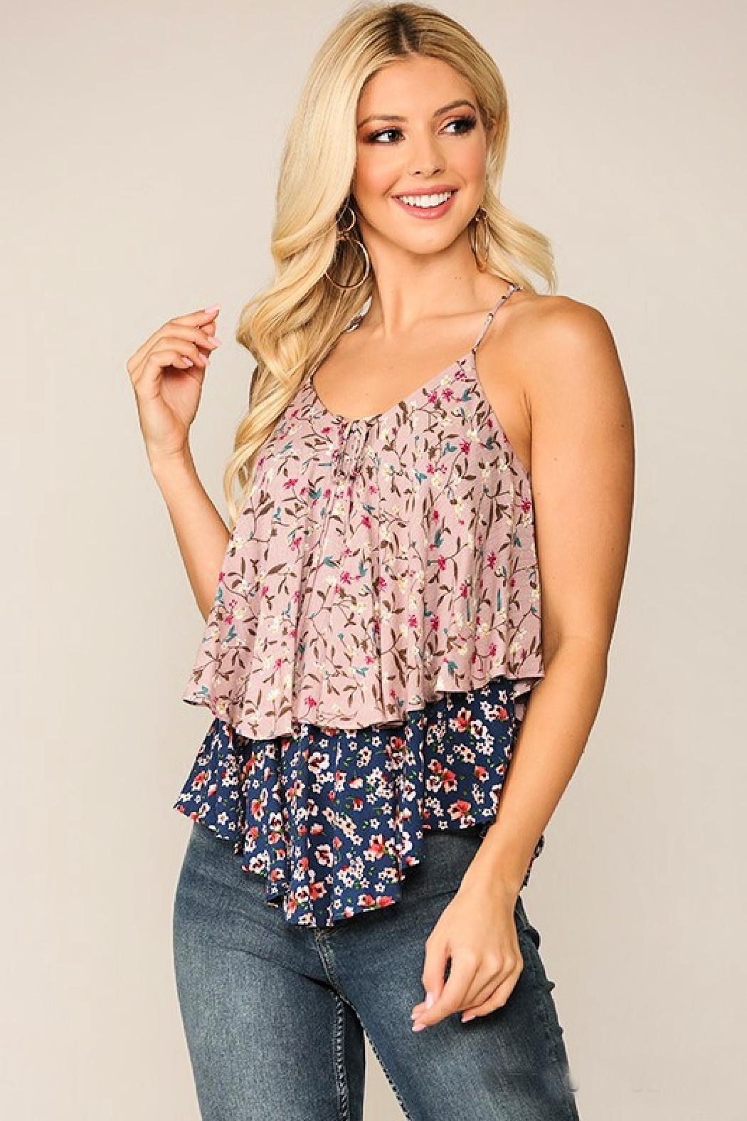 GiGiO Double-Layer Floral Cami - Main Image