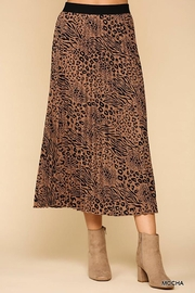 GiGiO Mixed Animal Print Pleats Midi Skirt - Product Mini Image