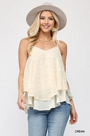GiGiO Woven Dot Fabric Cami Top - Front cropped