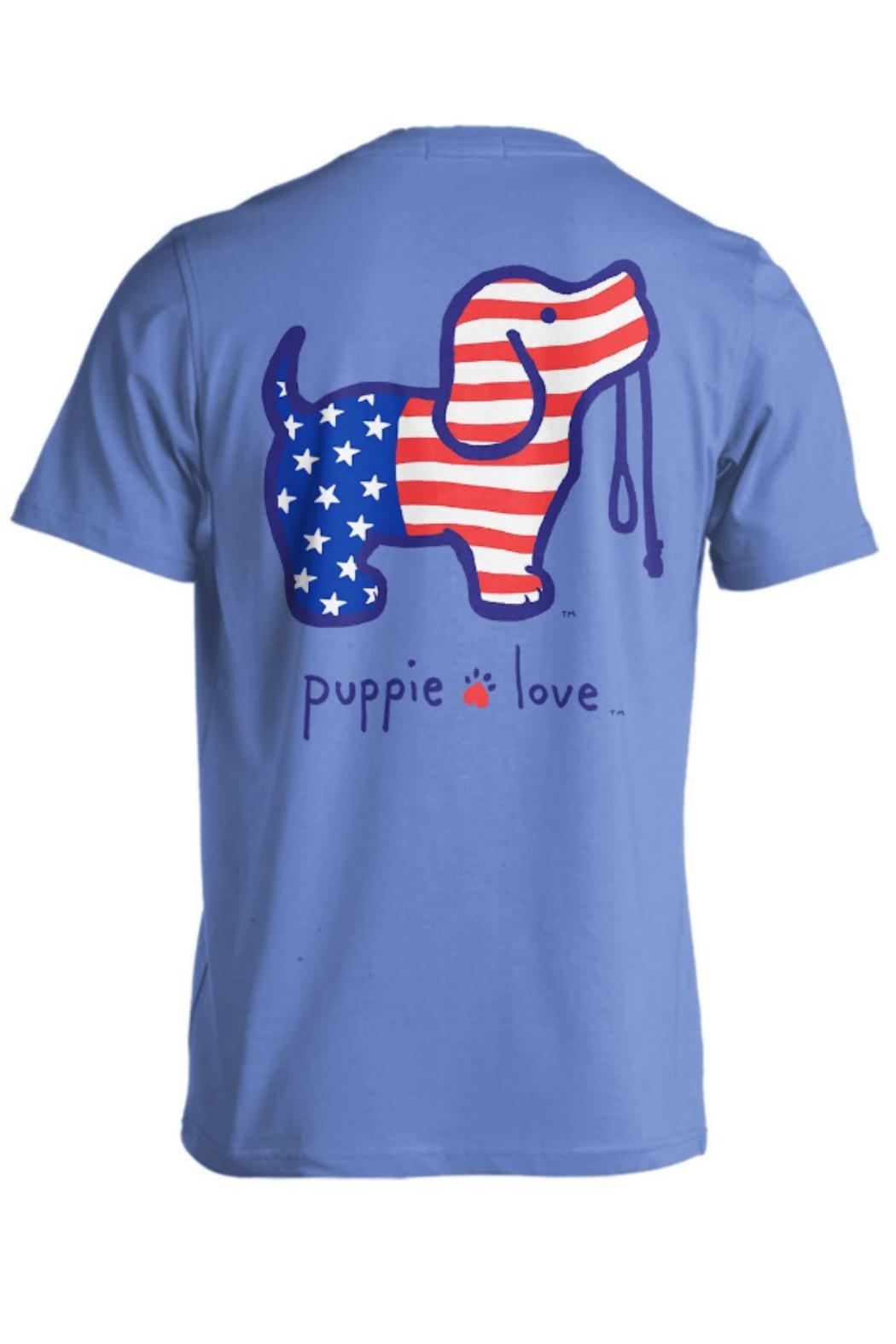 Gildan Puppielove Usa Tee - Front Cropped Image