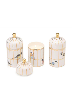 Two's Company Gilded Cage Lidded Fill Candle w/Lemon Verbena - Alternate List Image