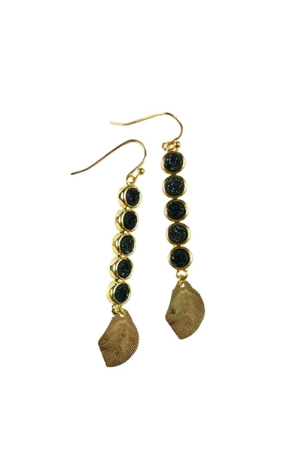 Fabulina Designs Gilded Leaf Earrings - Main Image