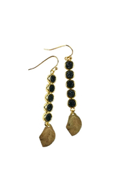 Fabulina Designs Gilded Leaf Earrings - Front cropped
