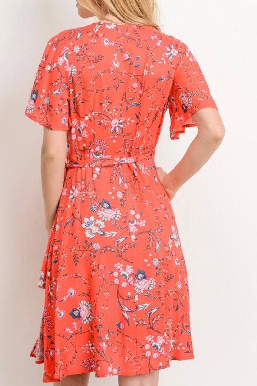 Gilli A-Line Printed Dress - Back Cropped Image