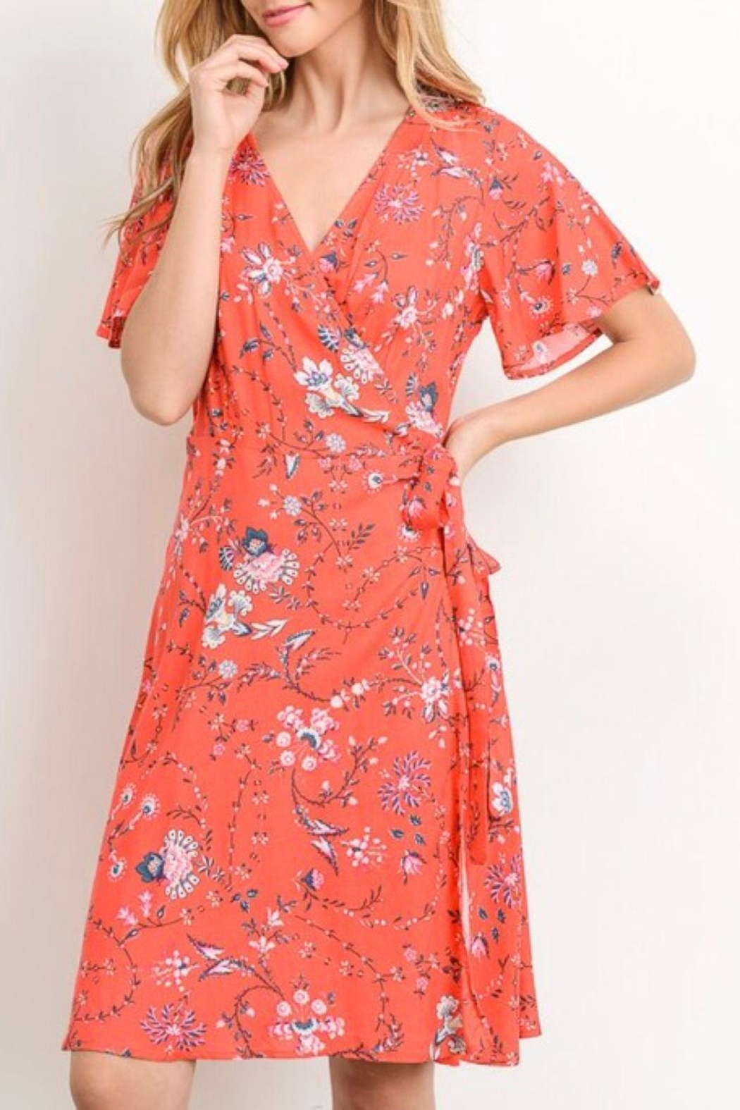 Gilli A-Line Printed Dress - Front Full Image