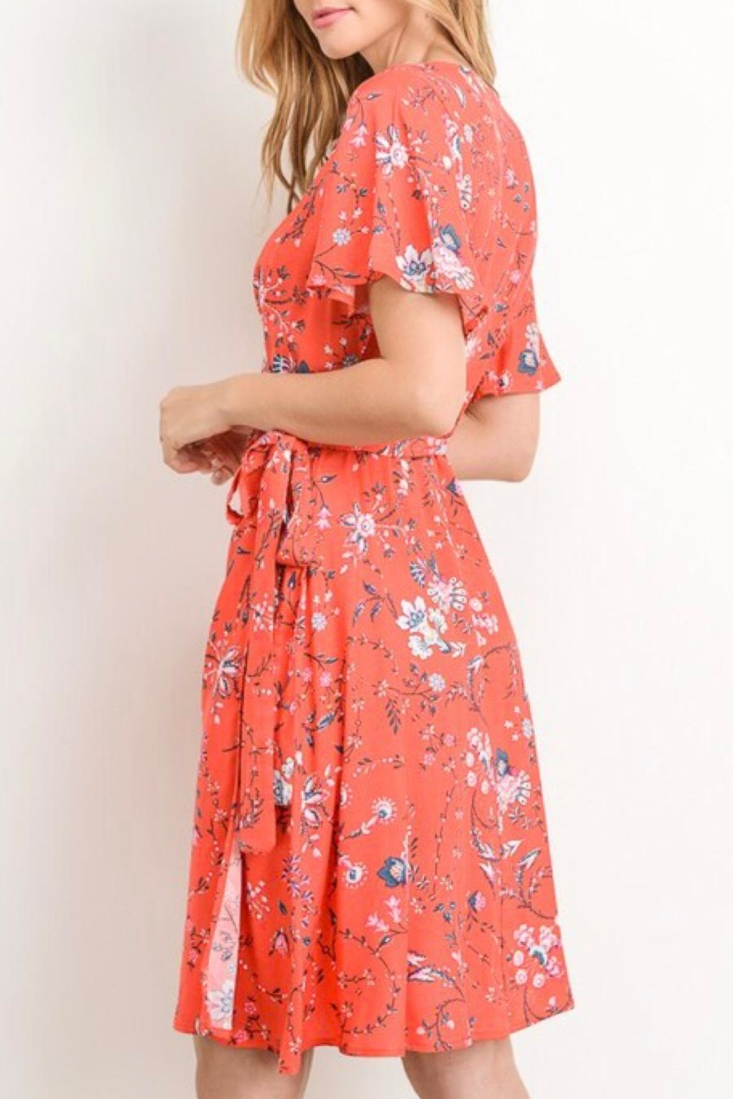 Gilli A-Line Printed Dress - Side Cropped Image