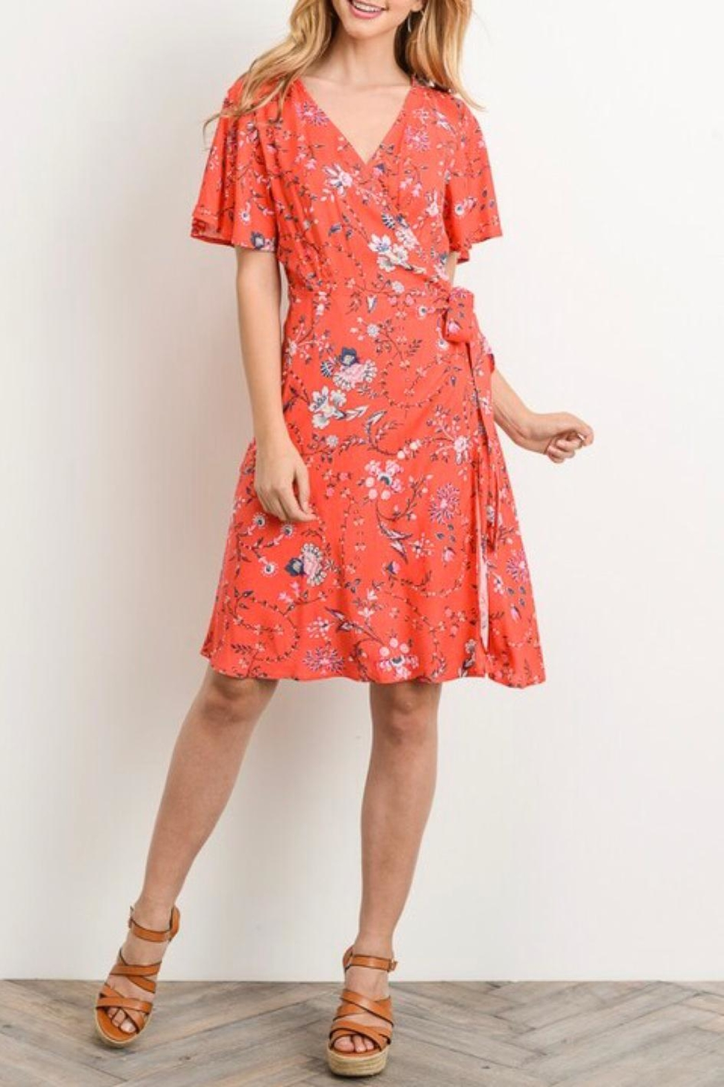 Gilli A-Line Printed Dress - Front Cropped Image